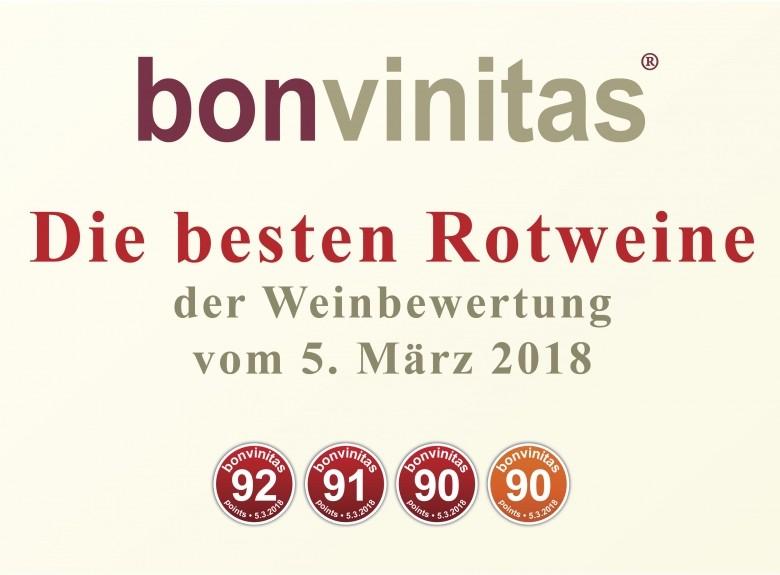 Die besten Rotweine der Weinbewertung vom 5. März 2018