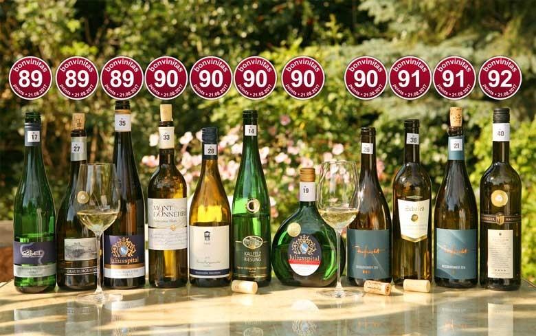 Die besten Weißweine trocken der bonvinitas Weinbewertung 21.8.2017